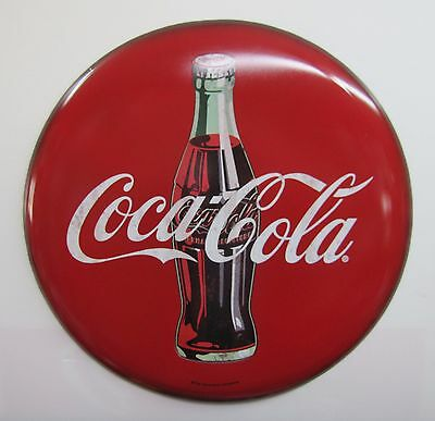 Coca-Cola 2 Foot Wide Button Sign - BRAND NEW!