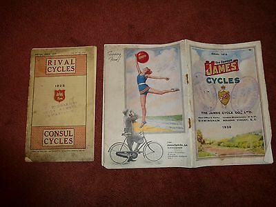 Cycle catalogues for Rival and James bikes