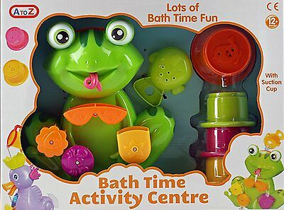 Frog Bath Time Activity Play Centre Toy - Turning Water Wheel And Sieve