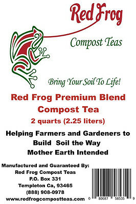 FALL VEGETABLE GARDEN Health & Growth! 2.5 Liter Red Organic Frog Compost Tea