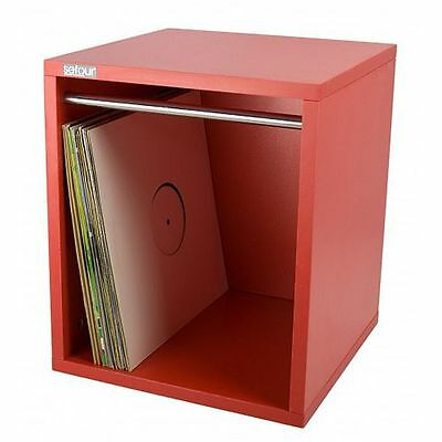 """Sefour 12"""" LP Vinyl Record Carry Storage Box 115 (small, dead red)"""