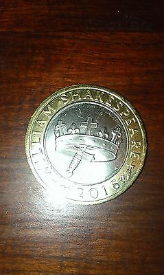 Rare £2 Pound Coin 2016 William Shakespeare The Hollow Crown