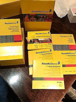 Rosetta Stone Hewbrew lvl 1,2,3 With Authorisation Code