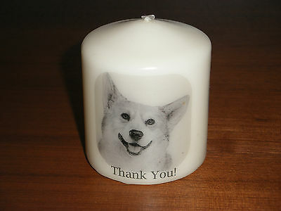 Candle Picture Corgi Dog Can be Personalised Birthday Love Memorial Gift New