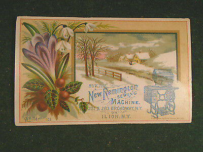 New Remington Sewing Machine Victorian Trading Card    (7056-2)