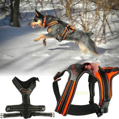 Reflective Big Dog Harness Large Pet In Training Vest With Quick Control Handle