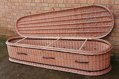 190CM - HANDMADE high-quality original NATURAL WICKER coffin for cremation (4)