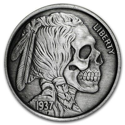United Snakes Series - Indian Skull 1 oz .999 Silver Antiqued Finish Round Coin