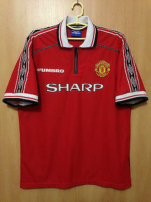 Manchester United 1998/2000 Home Football Shirt Jersey Vintage Umbro