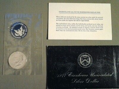 1971 Eisenhower uncirculated silver dollar