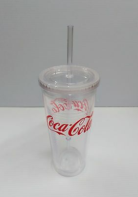 Coca-Cola 20oz Clear Insulated Tumbler w/ Lid - BRAND NEW