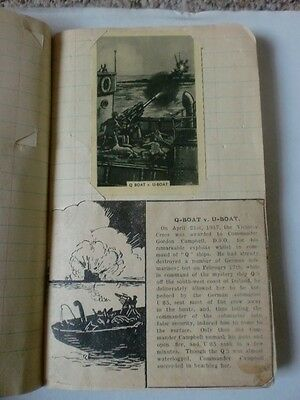 Ww1 Victoria Cross Award Cards And Descriptions Scrap Book Vc Zeppelin U-Boat