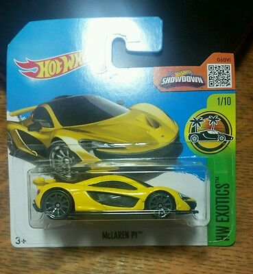 VRARE Hot Wheels McLaren P1 Yellow 1:64 Car Model Unopened Collectable DIECAST