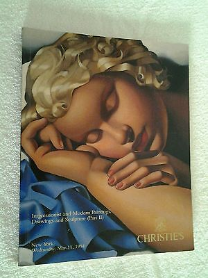 Christie's Impressionist & Modern Paintings Drawings & Sculpture May 11, 1994