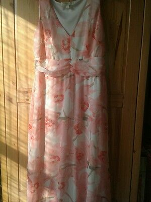 Stunning pink mix special occasion dress .wedding.  size 14.