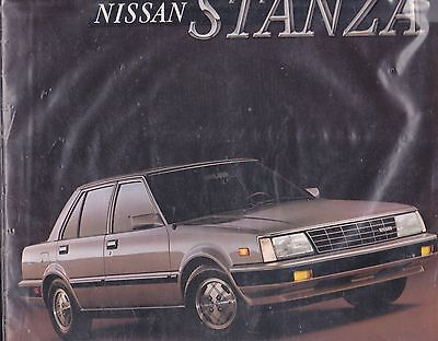 1986 Nissan Stanza Factory Original Sales Brochure   14 Pages