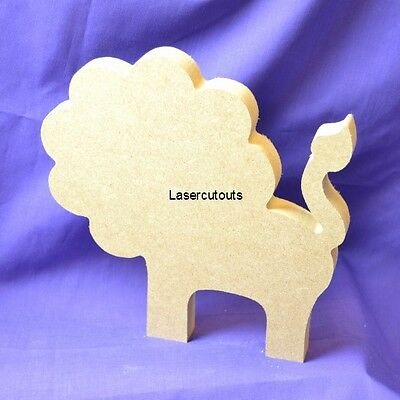 Decoration 18mm Thick Freestanding Wooden MDF Blank Elephant Craft Shape
