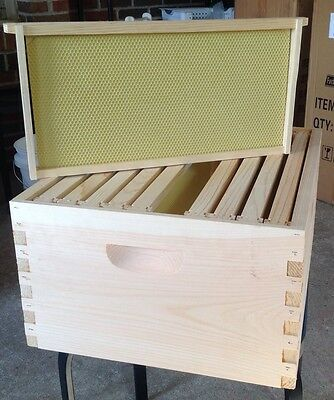 Beekeeping  Special 10 FRAME Deep Super Hive Body ,Frames & Foundation