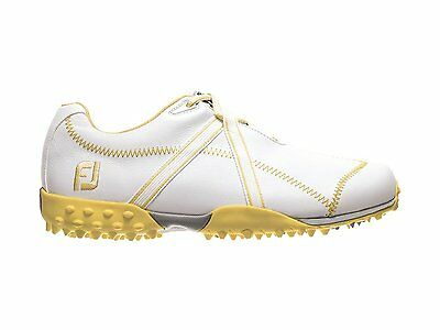 FootJoy Womens M Project Golf Shoes - Closeouts - White/Yellow - #95647