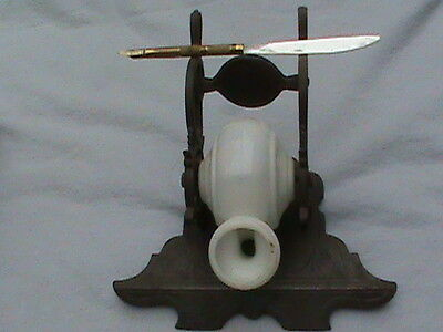 Antique snail type Inkwell