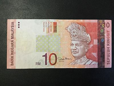 2001 Malaysia Paper Money - 10 Ringgit Banknote !