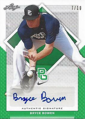 2016 Leaf Perfect Game Bryce Brown CLEMSON Green Autograph Card # 7/10