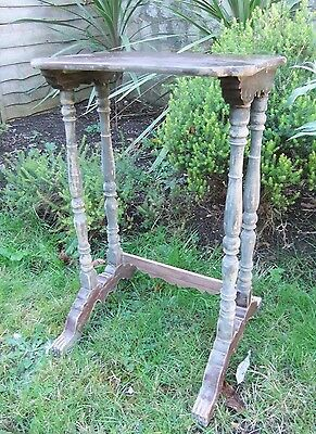 ANTIQUE ORIENTAL DISPLAY STAND w/ CLAW FEET Restoration Project