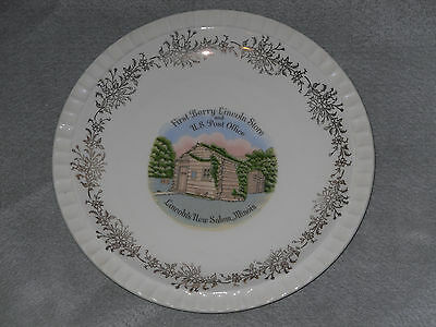 Souvenir Plate First Berry Lincoln Store Illinois Collector Enco Vintage Small