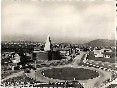 Greenhill, Sheffield, St. Peter's Church, b+w RP postcard, unposted
