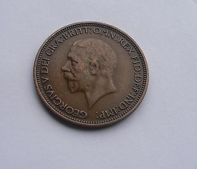 George V,  1936 Halfpenny, Excellent Condition.