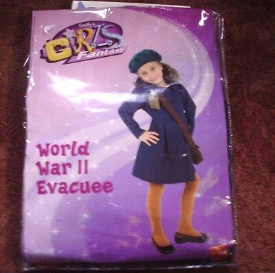 Girls World War 11 Evacuee Costume  Age 7 / 9 Years In A Very Good Condition