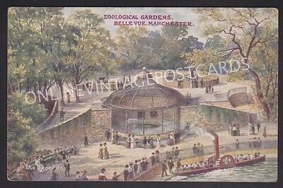Manchester Zoological Gardens Belle Vue The Bear Pits Small Paddle Steamer