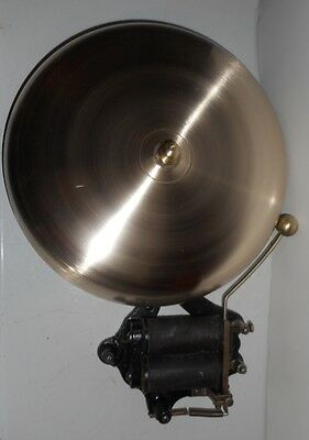 """Large 12"""" brass electric alarm gong or bell"""