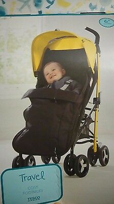 Universal Cosytoes Foot Muff Black - NEW for puschair / stroller / Buggy