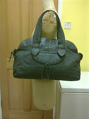 M&S LIMITED COLLECTION Grey Soft Leather Tote Extra Large Bag  £99