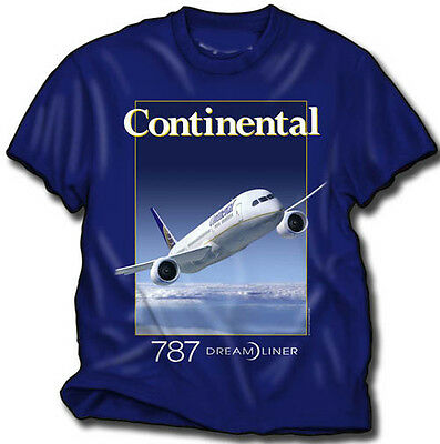 Continental Airlines B-787 T-Shirt  Size XL.
