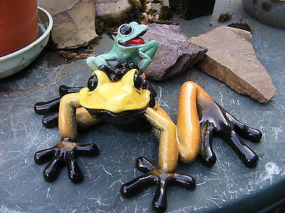 """Kitty's Critters """"Mama Mia""""  Mother and baby frog!"""