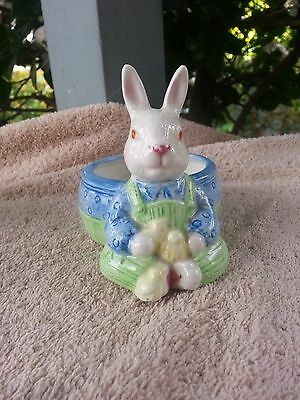 Cute  Bunny Rabbit Candle Holder Figurine