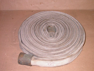 """Fire Hose FM 50 Foot 1 1/2"""" 300 PSI Brass Fittings Used Not Tested From Storage"""
