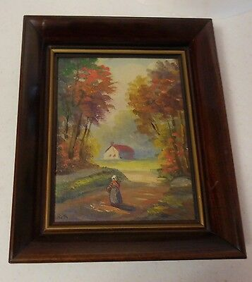 Original Vintage Oil Painting Signed Carl Roth Art Associates New York City
