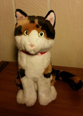 FAO SCHWARZ CAT PLUSH Kitty Stuffed Animal Calico