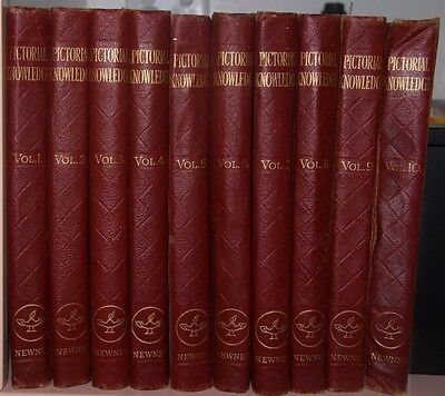 Collectable 1950's Newnes Pictorial Knowledge encyclopaediaVolumes 1-10 complete