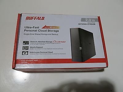 NEW OPEN BOX BUFFALO LinkStation 410 2TB 1-Drive NAS (LS410D0201) IN STOCK RST
