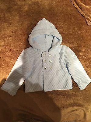 Baby Boy Baby Blue Knitted Cardigan 3-6 Months