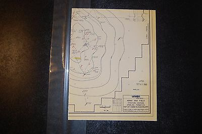 Map - Kenai Gas Field, Structure Contours, Sterling Formation, 1983