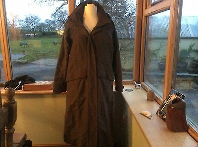 MUSTO Suffolk Ladies Long Waterproof/Windproof/Breathable Riding Coat -Brown -XL