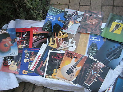 music equipment brochures from the 80's & 90's guitar,keyboard bass,amps 3.5kg
