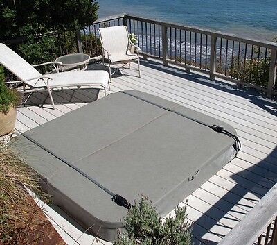 Hot Tub Spa Cover Security Locking Wind Straps in Gray Pair