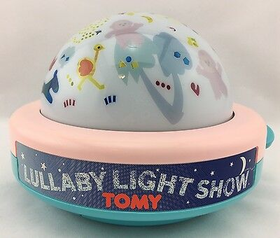 1987 Tomy LULLABY LIGHT SHOW Musical Night Light Projection Animals Wind-Up Toy
