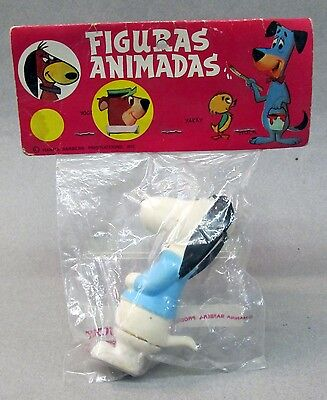 """4.75"""" tall AUGIE DOGGIE squeeze toy BLUE SHIRT Bucky Mexico MINT IN PACKAGE 1973"""